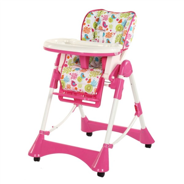 Silla comedor de bebe rosado ebaby611p ebaby usa for Comedor para bebe